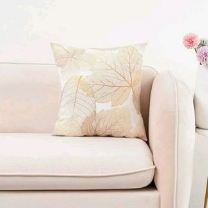 2/$20Gold Leaf Accent Cushion Cover without filler